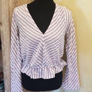 Express stripe blouse